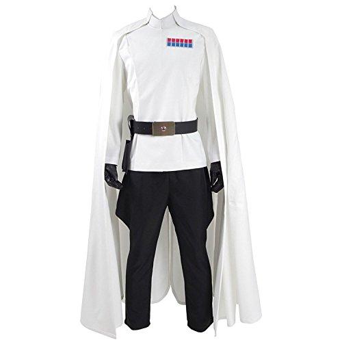 TISEA Hot Film Star Series Skywalker Men's Women's Poe Dameron and Princess Leia Cosplay Costume Halloween Outfit (Custom Made, White) -