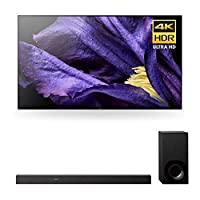 """Sony XBR-65A9F 65"""" Master Series BRAVIA OLED 4K HDR TV and HT-Z9F 3.1-Channel Dolby Atmos Soundbar with Subwoofer"""