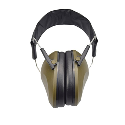 XAegis Noise Cancelling Earmuffs Safety Hearing Protection Headphones for Hunting Shooting NRR 21dB, Amry Green