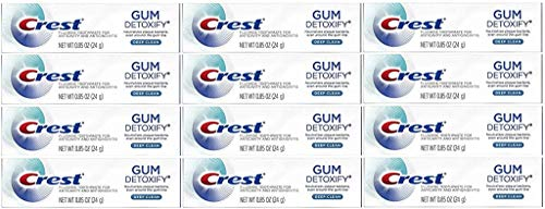 Crest Gum Detoxify Toothpaste, Deep Clean, Travel Size, 0.85 oz (24g) – Pack of 12