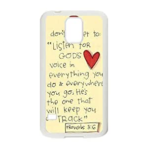 Bible Verse DIY Cover Case for SamSung Galaxy S5 I9600,personalized phone case ygtg619445