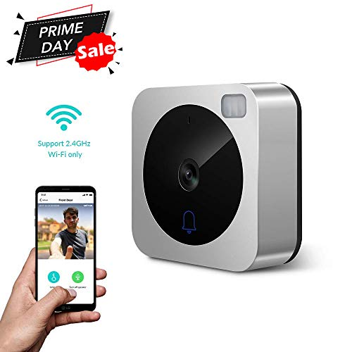 (Video Doorbell-NETVUE Camera Doorbell with Two-Way Talk, IR Motion Detection, Night Vision, Compatible with Alexa video Doorbell with Cloud Storage Wireless Doorbell [Wall Plug Included])