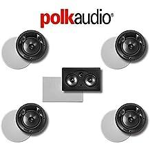 Polk Audio 80 F/X-LS 5.0-Ch Vanishing Series In-Ceiling / In-Wall Home Speaker System (80-F/X-LS + 255C-RT)
