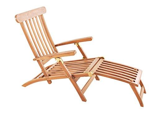 Sam Gartenliege Puccon Teak Holz Verstellbarer Deckchair Klappbar
