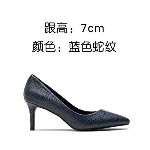 simple zapatos delgado de tacón d partido de tacón sex trabajo superficialmente zapatos zapatos solo simple zapata zapatos moda FLYRCX de solo Negro qn0P77