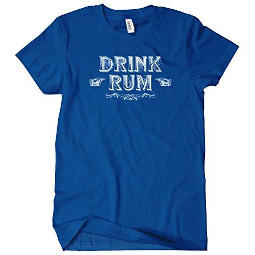 (Smash Transit Women's Drink Rum T-Shirt - Royal Blue, Small)