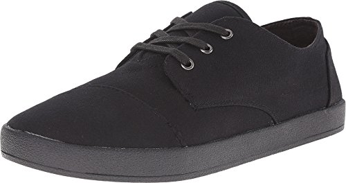 TOMS Men's Paseo Black on Black Canvas Sneaker