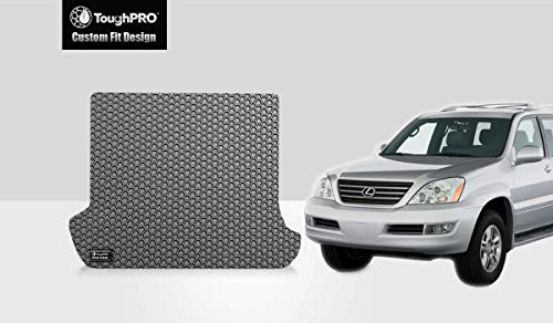 ToughPRO Cargo/Trunk Mat Compatible with Lexus GX470 - All Weather - Heavy Duty - (Made in USA) - Gray Rubber - 2003, 2004, 2005, 2006, 2007, 2008, 2009