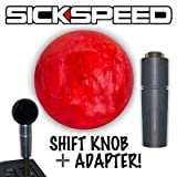 Red Pearl Shift Knob & Adapter For Auto/Automatic Gear Shifter Lever C3 for Ford Fusion