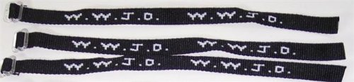 1 Dozen Black and White W.W.J.D. Wrist Bands What Would Jesus Do? - Wristbands What Do Do