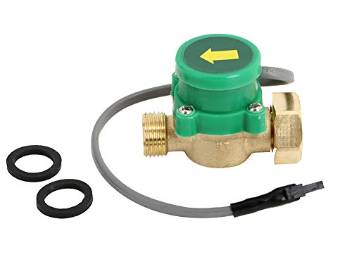 - KOLERFLO Hot Water Flow Sensor Switch,AC 110V G3/4