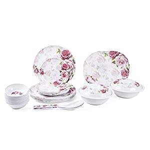 Logicmart Ceramic Dinner Set – Set Of 32, White