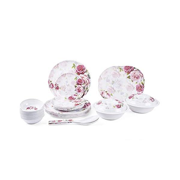 Logicmart Ceramic Dinner Set - Set Of 32, White