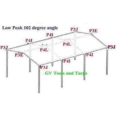 2pc x 4 way EDGE LOW PEAK UP ANGLE CANOPY FITTING (P4IA) ~ 3/4