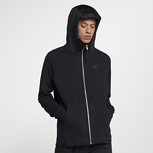 NIKE Mens M NSW Hoodie Air Max FZ Ft 886071-010_XL - Black/Black/Black ()