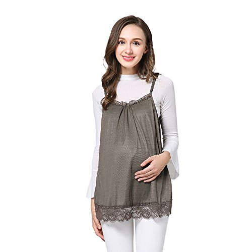JOYNCLEON Anti-Radiation Maternity Tank Top Camisole 100% Silver Fiber Pregnancy Protection Shield Clothes Lace for Women (Large, Black)