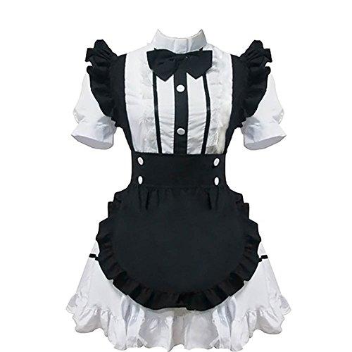 Cos store Womens Maid Costume Cosplay Dress Halloween Christmas Sexy Costume Dress ()