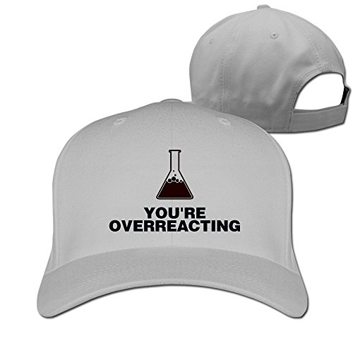 you-are-overreacting-chemical-reaction-adjustable-fitted-hat-trucker-hat