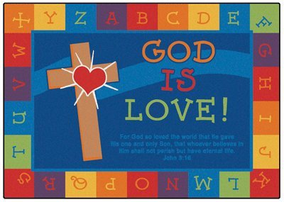 God Is Love Learning KID$ Value PLUS Rug - Rectangle 6' x 9' by Carpets for Kids