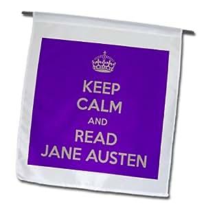 3dRose fl 157448_ 1Keep Calm And Read Jane Austin bandera de Jardín, 12por 45,72cm