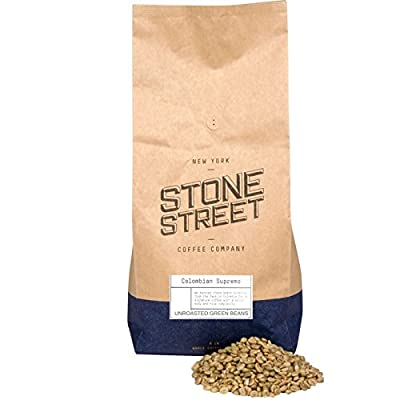 Green Unroasted Colombian Supremo Raw Coffee Beans from Stone Street Coffee Company