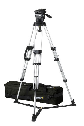 Miller 1773 Arrow 25 ENG Tripod (Black/Silver) by Miller Camera Support LLC USA