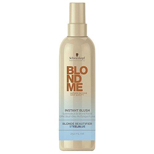 Schwarzkopf Professional BlondMe Instant Blush Temporary Hair Color 250ml (Steel Blue)
