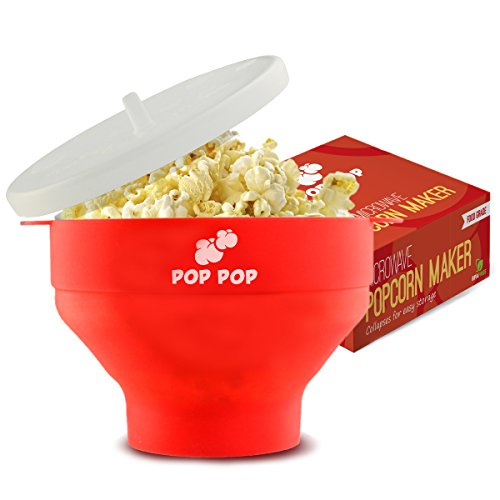 Silicone Microwave Popcorn Maker Collapsible