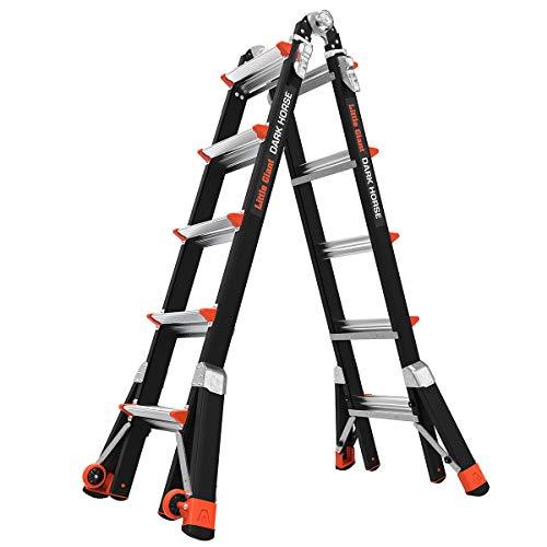 Little-Giant-Ladders-Dark-Horse-M22-11-19-foot-Multi-Position-Ladder-Fiberglass-Type-1A-300-lbs-weight-rating-15145-001
