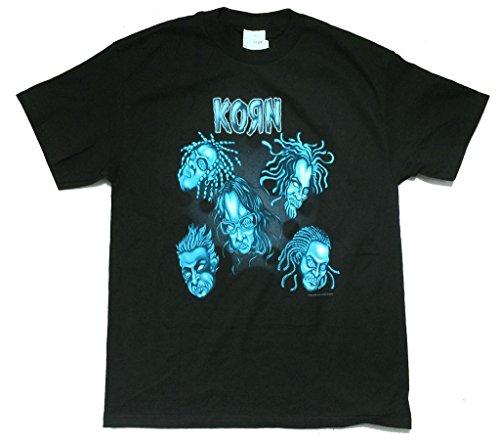 Korn Jarhead Cartoon Voodoo Doll Heads Black T Shirt - Shop Headies Head