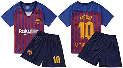 HS-HCF.HW Uniforme de fútbol para niños Barcelona No.10 ...