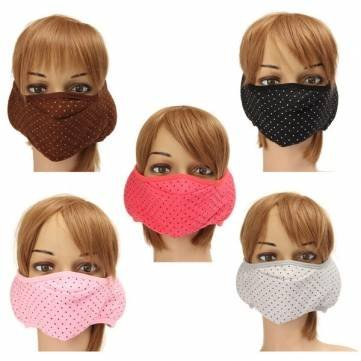 Face Mask Oral Protection (Thle Store - Motorcycle Face Mask - Cotton Ear Face Mouth Ear Muffs Masks Protective Motorcycle Cycling Uni Ear Cotton Face Oral Cavity Cotton Fiber - 1PCs)