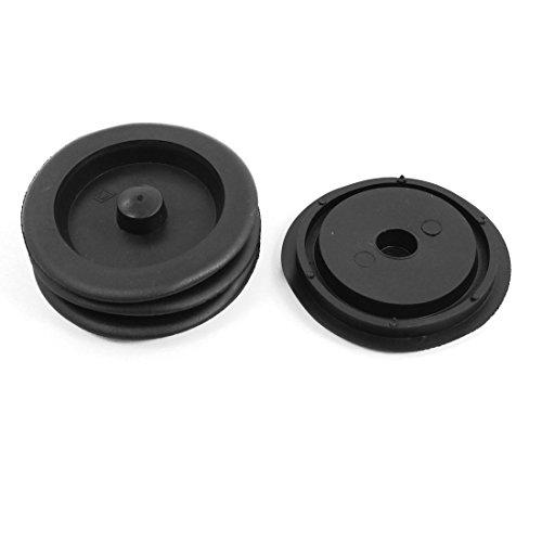 "free shipping Black Plastic Garbage Disposal Sink Stopper Flange 3.5"" Dia 4Pcs"