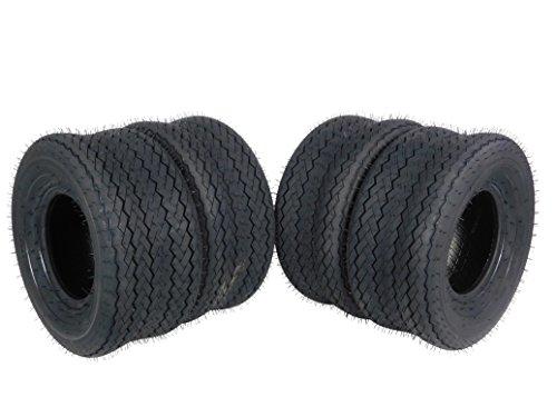 MASSFX SL18858(x4) 4 PLY Golf Cart Turf Tires 18x8.5-8 18x8.50-8 18x8.50x8, Set of four (4) Tires