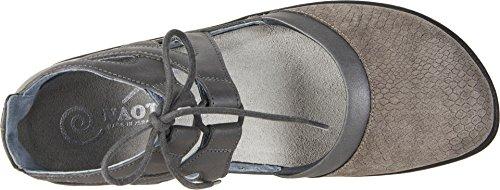 Naot Footwear Women's Kata Gray Iguana Nubuck/Shadow Gray Nubuck/Tin Gray Leather 40 M EU by Naot Footwear (Image #1)