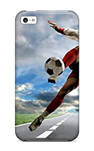MING ZENG Scratch-free Phone Case For Iphone 5c- Retail Packaging - Football