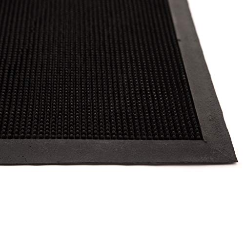 IncStores Bristle Mat Outdoor/Indoor, Rubber Entrance Mat for Businesses, Hallways, Schools and General Purpose Utility