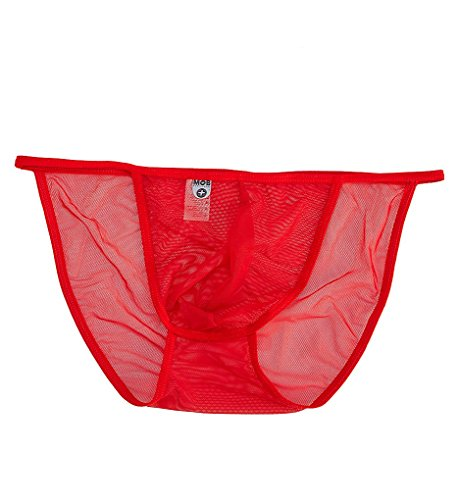 fac479105606d Male Basics String Tulle Bikini Red - Large Xlarge