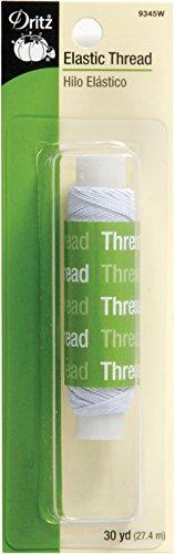 Dritz 9345W Elastic Sewing Thread, White, 30-Yard]()