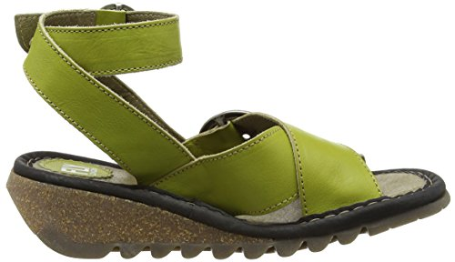 FLY London TUBB609FLY - Sandalias con cuña Mujer Amarillo - Yellow (Lemon (Black))