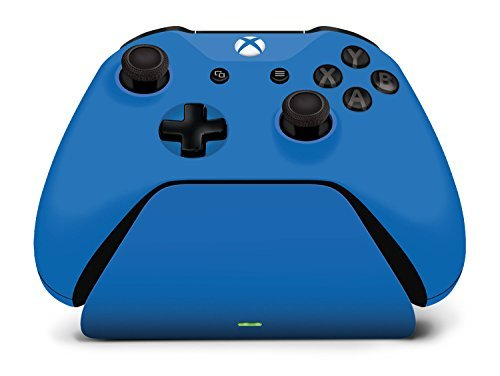 Controller Gear Xbox Pro Charging Stand Photon Blue. for Xbox Elite, Xbox One and Xbox One S Controller. Exact Color Match. Officially Licensed and Designed for Xbox - Xbox One by Controller Gear