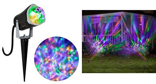 [Gemmy Lightshow Fire & Ice Kaleidoscope Projection Green, Purple & Orange Spotlight for Halloween,] (House With Dancing Halloween Lights)