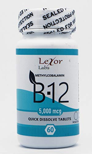 5000 Mcg Tablets Sublingual (Lexor Labs Methylcobalamin B-12 Quick Dissolve Tablets, 5000 Mcg, 60 Count)