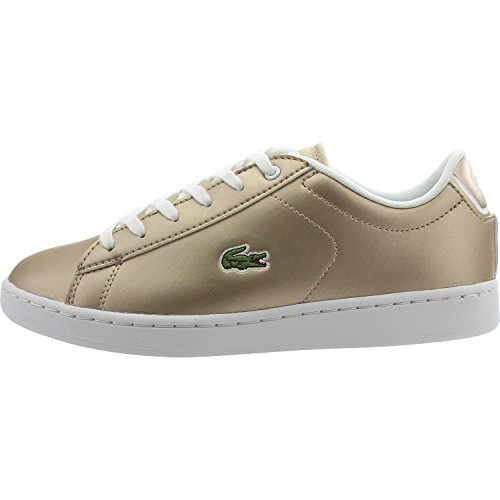 Lacoste Carnaby Evo 218 1 Gold Synthetic Youth Sneakers Gold