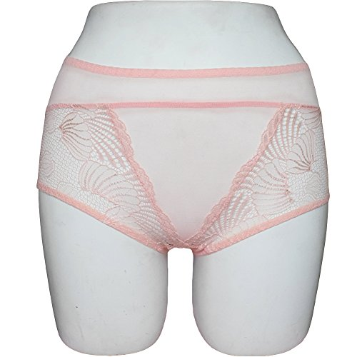 MEINA Shorts Para Mujer Comfort Soft Boyshorts Breathable Lace Middle-Rise Briefs Watermelon Red