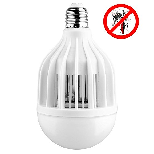 AcTopp 3 in 1 Bug Zapper 2017 Upgraded Bulb, 85V-265V Mosquito Killer Bug Zapper Light Bulb Indoor/Outdoor Lighting, Flying Insects Wasp Moths Bug Killer, Removable for Easy Cleaning, Brush Included