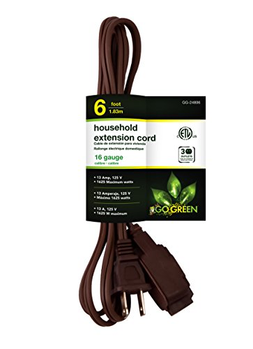 6ft household extension cord - 1