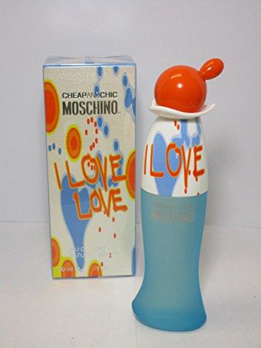 Moschino Eau de Toilette Spray for Women, I Love Love, 1.0 (I Love Love For Women Eau De Toilette)