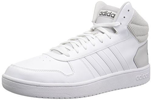 adidas Men's VS Hoops Mid 2.0, White/White/Grey One, 8 M US