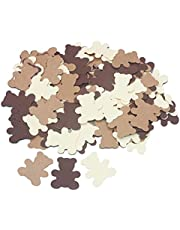 300PCS Cream Brown Teddy Bear Baby Shower Table Confetti Sprinkles Scatter Boy Girl First Birthday Nuetral Rustic Party Decoration